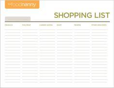 Shopping List Image