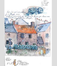 Travel Sketchbook, Art Sketchbook, Watercolor Sketch, Watercolor Landscape, Moleskine, City Sketch, Drawing Sketches, Drawings, Artist Journal