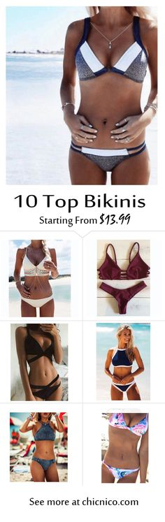 Starting from $14.99! Amazing top 10 bikinis are at www.chicnico.com! Bikini Swimwear Swimsuit 2016 Boho Strappy Floral Mono