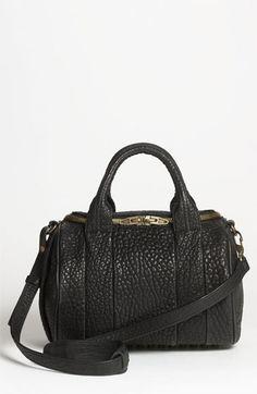 textured leather satchel