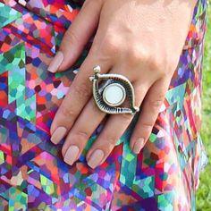 Anel olho grego disponível em nossa loja virtual: www.artdecobijoux.com.br