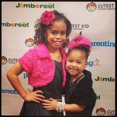 so cute asia and her lil sis bella blu  :D how sweet