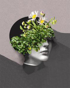 Maja Egli // Graceful Flowery Collages