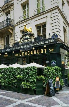 Restaurant L'Escargot, 38 Rue Montorgueil, Paris: Paris Chic, Paris Love, Paris Travel, France Travel, Travel City, Shopping Travel, Beach Travel, Paris France, Montorgueil Paris