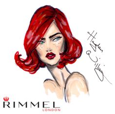 #LFW day 4 beauty look for @rimmellondonuk . A beautiful red lip inspired by the @burberry show today.