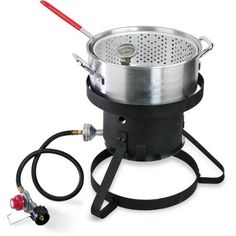Cajun Injector 10 Quart Gas Fish Fryer, Silver