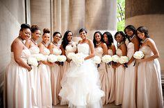 bridesmaids dresses by d'zage #Mundywedding