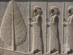 Carved Reliefs of Palace Guard, Apadana Palace Staircase, Persepolis, Iran Photographic Print by David Poole at Art.com