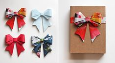 origami gift bows
