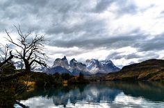Patagonia Chile :: The mysterious Torres del Paine on an overcast day:: 46503264 [OC] #reddit