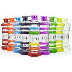 Le fantastiche bottiglie i9 con la caratteristica che ognuna lavora con la vibrazione del colore di ogni singolo chakra