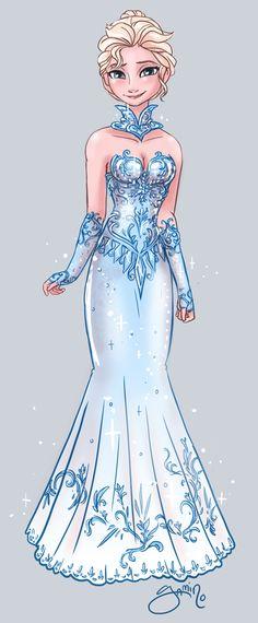 Elsa's alternate dress