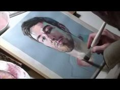 ▶ Painting me, portrait in Gouache / Pintant-me, retrat en Gouache - YouTube