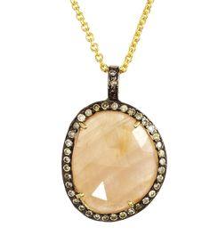 Honey Sapphire Diamond Pendant | Didi Jewellery