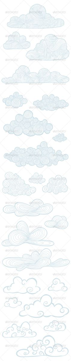 Hand Drawn Cloudy Pack #GraphicRiver Collection of 23 different hand-drawn vector clouds. You can easily recolor them as you need. These hand-drawn clouds will suit perfectly as web site, game, or print design elements. All clouds are in separate layers and I also icluded layered Photoshop file if you don't have Illustrator. This file contains: 23 vector clouds 6 different styles layered psd file layered objects Recommended Items 9 Hand-Picked Logo Templates Of The Week ( more… ) Looking For…