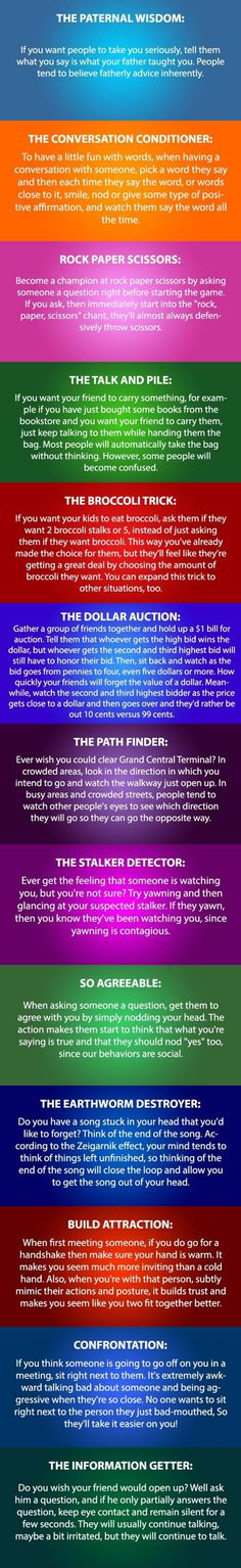 Funny pictures about Some Psychology Tricks You Need To Try. Oh, and cool pics about Some Psychology Tricks You Need To Try. Also, Some Psychology Tricks You Need To Try photos. The More You Know, Good To Know, Info Board, Tips & Tricks, Mind Tricks, Brain Tricks, Simple Life Hacks, Psychology Facts, Good Advice