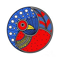 Pottery Painting Designs, Rock Painting Designs, Pebeo Vitrail, Madhubani Art, Indian Folk Art, Madhubani Painting, Indian Art Paintings, Art Drawings Sketches, Tribal Art