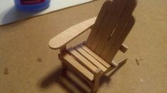 Andirondack doll chair made using popsicle sticks.  Very good tutorial, the best one I have found