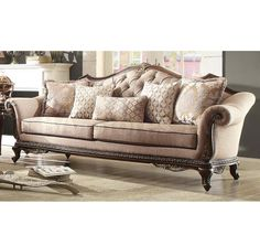 Most traditional sofas are oversized and have large wood frames with ...