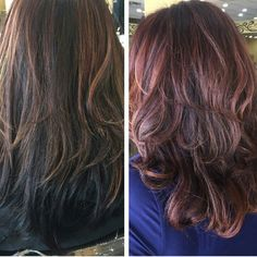 Before and after. #ombre #balayage #caramel #brown #highlights #gorgeous #mystyle
