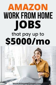 Looking for the best Amazon jobs from home? Check out this list of legit work from home Amazon jobs. Jobs From Home Legit, Amazon Work From Home, Work From Home Companies, Amazon Jobs, Companies Hiring, Business Opportunities, Earn Money, Digital Marketing, Tips