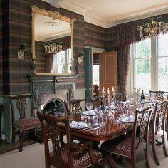 Tartan wallpaper | Dining room wallpaper | housetohome.co.uk | Mobile