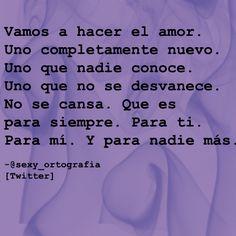 Hagamos el amor...