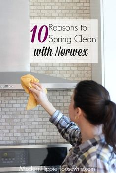 How it works, why I love it, and 10 Reasons to Spring Clean with Norwex micro-fiber cleaning cloths! - Modern Hippie Housewife