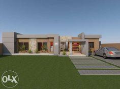 Loft Design, Modern House Design, Double Story House, Flat Roof House, Maputo, One Story Homes, Bedroom House Plans, Heaven On Earth, Bathroom