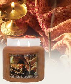 Egyptian Sandalwood-Premium Round Scented Candles | Village Candle. #villagecandle