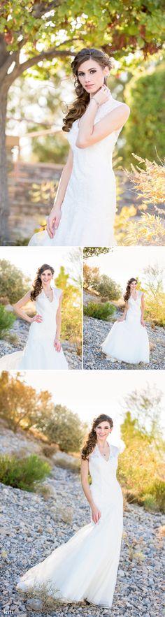 Desert Wedding Fashion Photoshoot | Paiute Golf Resort | KMH Photography, Las Vegas Wedding + Portrait Photographer