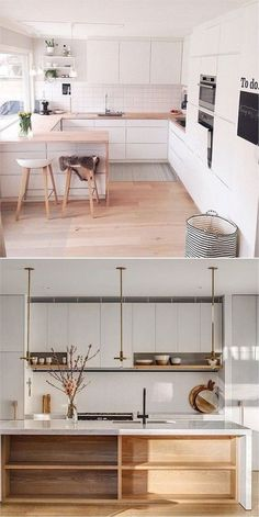 If you ask what kitchen design is interesting and the best? Then the answer is S. If you ask what kitchen design is interesting and the best? Then the answer is Scandinavian kitchen Home Design, Küchen Design, Layout Design, Design Ideas, Scandinavian Kitchen Cabinets, New Kitchen, Kitchen Decor, Küchen In U Form, Casa Loft