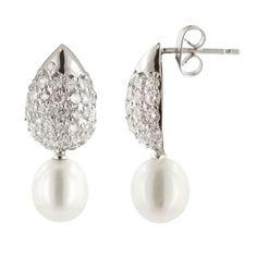 Cultured Pearl Drop Earrings Pearl Drop Earrings, Cultured Pearls, Jewelry, Pearl Earrings, Jewlery, Jewerly, Schmuck, Jewels, Jewelery