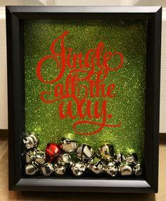 Super Cute, Jingle All The Way Shadow Box w/ Jingle Bells.
