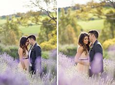 Engagement photoshoot ideas lavender