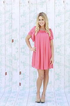 Southern Belle Shift Dress in Coral - product images  of