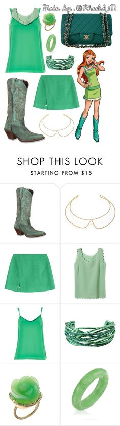 Sam (Totally Spies) 2 by rheebavn on Polyvore featuring мода, River Island, Isa Arfen, Durango, Chanel, Roberto Cavalli, Irene Neuwirth, Bling Jewelry, Marc by Marc Jacobs and country