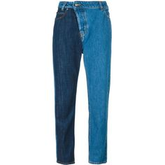 Vivienne Westwood Anglomania five pocket boyfriend jeans ($335) ❤ liked on Polyvore featuring jeans, bottoms, blue, vivienne westwood anglomania, 5 pocket jeans, five pocket jeans, blue jeans and boyfriend fit jeans