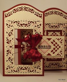 Happy Thursday, Last Thursday I showed my take on the Sue Wilson Spanish collection background die and a tri fold card I had come up wit...