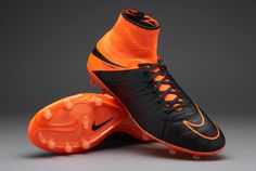 982dfdd83 Nike Hypervenom Phantom II Leather FG - Black Black-Total Orange-Total  Orange