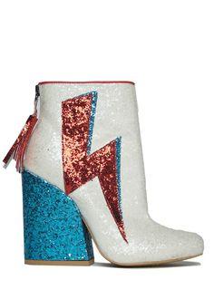 Y.R.U. ZIGGY Glitter Ankle Boots
