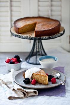 Honey Walnut Cake With Riesling Sabayon