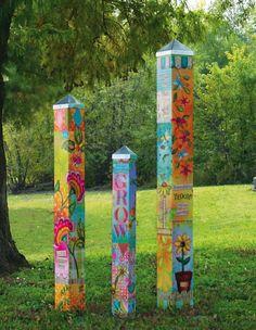 Blessed Nest Art Poles