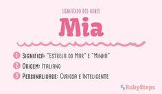 #Mia #babysteps #nomes #significado #menina #bebé