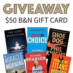 LINK IN BIO to enter! Only 3 days left to enter our monthly $50 Barnes and Noble gift card giveaway! Tag a friend to help you win!