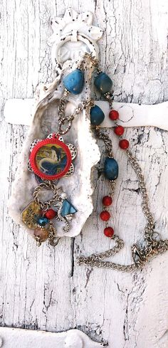 Mermaid Assemblage Necklace Dreaming Of The by SecretStashBoutique