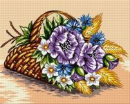 Goblenuri Nicu, Paint By Number, Flower Vases, Cross Stitch Embroidery, Decoupage, Diy And Crafts, Painting, Baskets, Cross Stitch