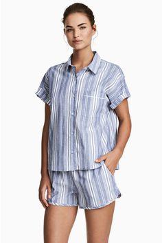 Shortama - Blauw/gestreept - DAMES | H&M NL 1