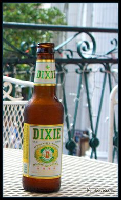 A cold Dixie on the balcony.