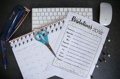 Résolutions, A imprimer, Imprimable gratuit, 2018, Newyears resolutions, to do list, blog, maman blogueuse
